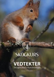 Vedtekter (pdf) - Skogbrukets kursinstitutt