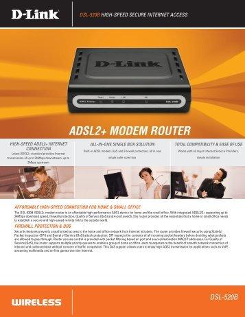 ADSL2+ MODEM ROUTER - D-Link