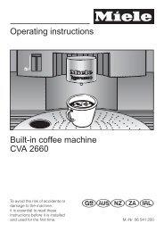 Operating instructions Built-in coffee machine CVA 2660