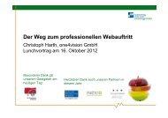 Der Weg zum professionellen Webauftritt - Marketingclub Saar