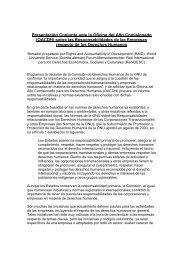 Presentación Conjunta ante la Oficina del Alto Comisionado - Choike