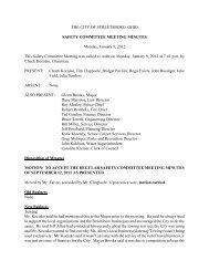 Safety Committee 01-09-12 Minutes.pdf - Streetsboro