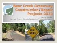 Bear Creek Greenway Construction Projects - Jackson County Oregon