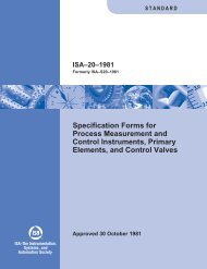 Specification Forms for Process Measurement and Control ...