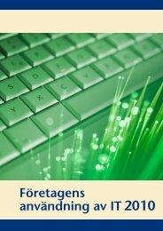 Företagens användning av IT2010 (pdf) - Statistiska centralbyrån