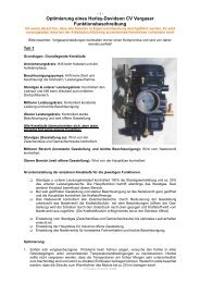 Optimierung HD CV Vergaser - malou customs