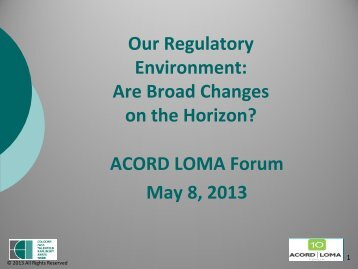 Form F - 2014 ACORD LOMA Forum