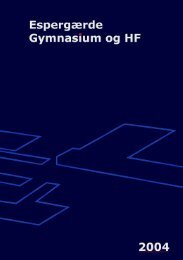 Se årsskriftet 2004 - Espergærde Gymnasium og HF