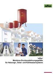 'reflex' Membran-Druckausdehnungsgefäße für Heizungs-, Solar ...