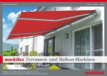 Terrassen- und Balkonmarkisen