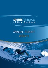 ANNUAL REPORT 2010/11 - Sports Tribunal of New Zealand