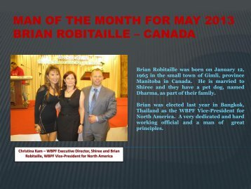 man of the month for may 2013 brian robitaille – canada - ABBF