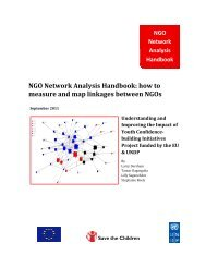 NGO Network Analysis Handbook: how to measure and map ...
