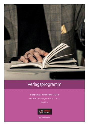 Verlagsprogramm - Edition Keiper