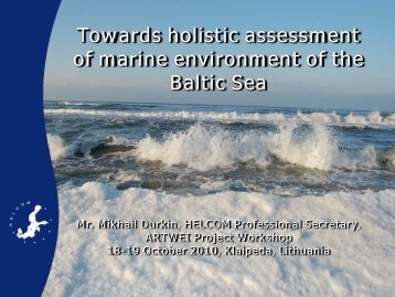 Ecosystem health of the Baltic Sea - Baltic Lagoon Network