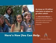Here's How You Can Help. - Afterschool Alliance