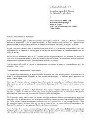 lettreau Président de la République - Les Avirons