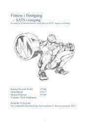 Fitness i fremgang - Roskilde Universitet