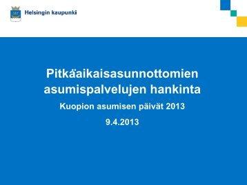 Hki sgei MikkoKohtala Kuopio asumisen päivät 9.4 ... - Asunto ensin