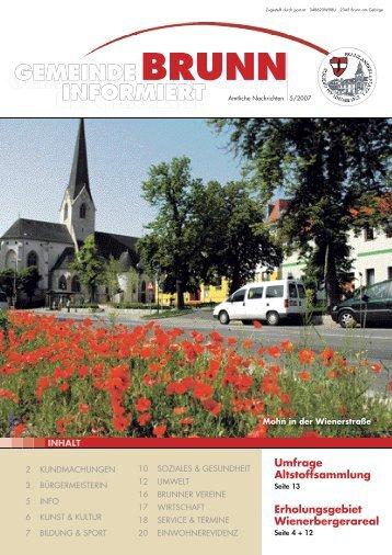 gemeinde brunn informiert gemeinde brunn - Brunn am Gebirge