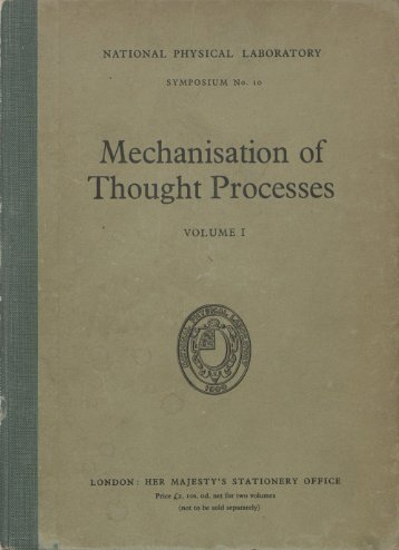 Mechanisation of Thought Processes - AITopics