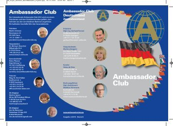 Ambassador Club Flyer - bei Charity Bonn