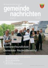 Seniorenfreundlichste Gemeinde ... - Biedermannsdorf
