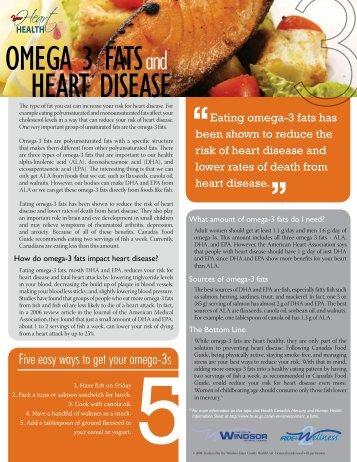 OMEGA 3 FATS HEART DISEASE - City of Windsor Wellness