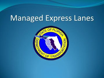 MANAGED EXPRESS LANES - North Florida TPO