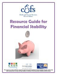 Resource Guide for Financial Stability - Erie County