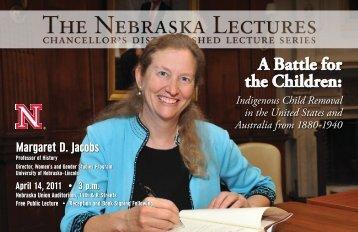 Nebraska Lecture - Office of Research & Economic Development ...