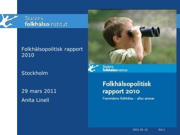 Folkhälsopolitisk rapport 2010