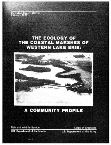 The Ecology of coastal Marshes of Western Lake Erie: A Community ...