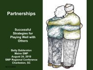 Partnerships: Successful Strategies for Playing Well with Others