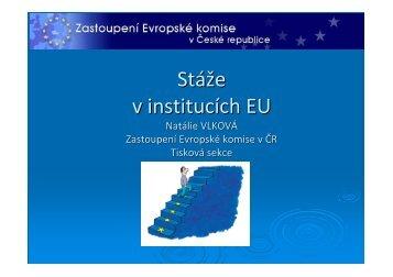 Stáže v EK - Euroskop.cz