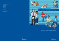 Haemophilia in the Classroom - Haemophilia Care
