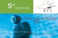 SIP TRUNKING It's time you switch to SIP! - Five Star Telecom, Inc.