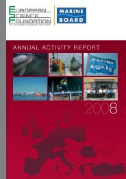 ANNUAl ACTIvITy REPORT - European Science Foundation