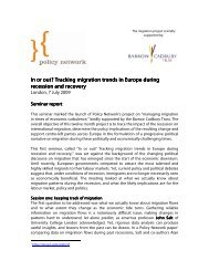 In or out? Tracking migration trends in Europe In or ... - Policy Network