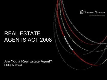 REAL ESTATE AGENTS ACT 2008 - LAPA