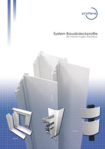System Bauabdeckprofile