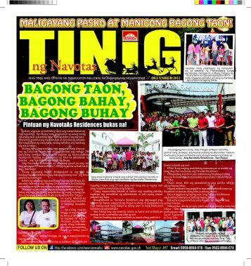 tinig december issue 2012 - Navotas City