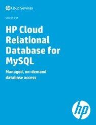 HP Cloud Relational Database for MySQL
