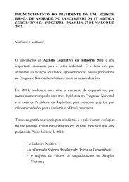 Agenda Legislativa da Indústria 2012 - CNI