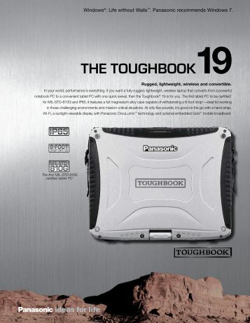 Download the Toughbook 19 Spec Sheet - DataSource Mobility