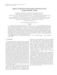Japanese VLBI Network Observations of SiO Masers in the ... - VERA