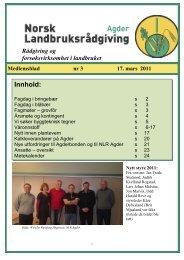 Medlemsblad nr 3 - Norsk Landbruksrådgiving Agder