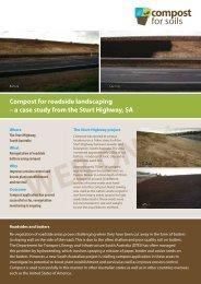 Sturt Highway - roadside landscaping - Compost for Soils
