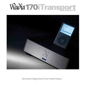 Bit-Perfect Digital Audio From iPod® Players - Axiss