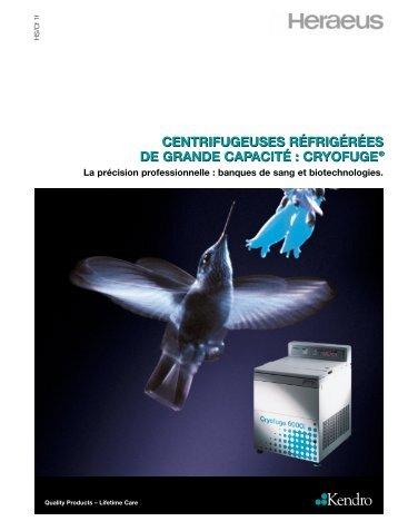 La centrifugeuse réfrigérée Cryofuge 6000i de Kendro… - Witeg